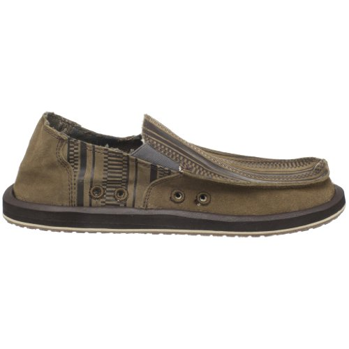 Marrone Sanuk Mens Donny Primo Slip-on