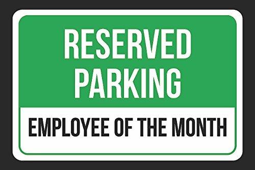Reservado aparcamiento empleado del mes impresión negro y ...