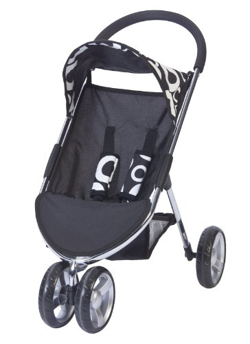 Amazon.com : Valco Baby Just Like Mum Amy 3 Wheel Doll Stroller ...