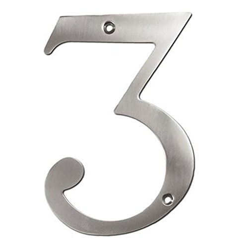 Deltana RN6-1U10B Solid Brass 6-Inch House Number 1 Board