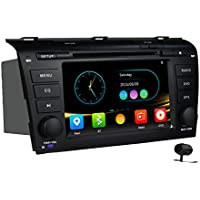 7 Inch 2 DIN GPS for Mazda 3 stereo DVD Navigation system CD Bluetooth Steering wheel control FM/AM CANBUS OBD2 Screen Mirroring fit 2003-2009 Mazda 3 touch screen