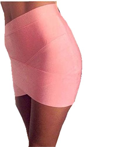 FASHION PARK Trendy Women Mini Sexy Slim Pencil Clubwear Black Gray Rose - Outlets City Park