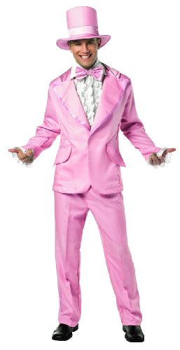 Rasta Imposta 70s Funky Colored Tuxedo, Pink, Adult Large