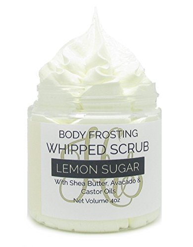 Lemon Sugar Whipped Soap Sugar Scrub | Body Scrub | Whipped Scrub | Gift for Her ()