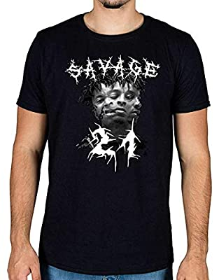 21 Savage 666 Head Graphic T-Shirt