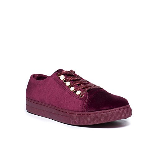 Ideal Shoes, Damen Sneaker Bordeaux