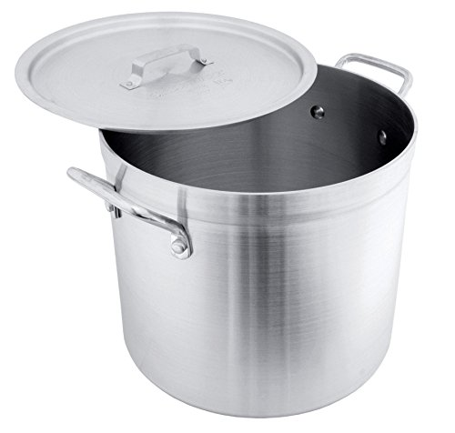 Crestware POT50R Aluminum Stock Pot with Lid, 50 quart, (50 Quart Stock Pot)
