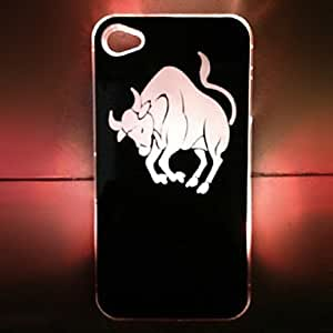 By New Sense Taurus Design LED Flash Light Color Changing Hard Case for iPhone 5 , Black