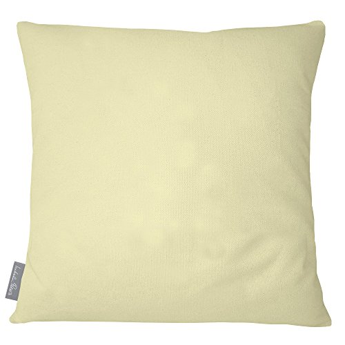 Izabela Peters Designer Luxury Outdoor Cushion Pillow Garden Waterproof Rattan Sofa - Cream - Signature Color Collection - Designed, Printed & Handmade in The UK (Choice of Colorway) (Waterproof Outdoor For Furniture Uk Cushions)