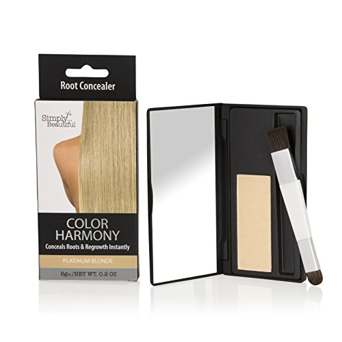 Color Harmony Root Touch Up Powder Conceals Grey Roots - Water Resistant, Non-Sticky, Simple To Apply and Mess-Free (Platinum Blonde)