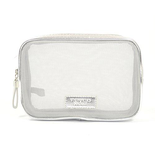 Victorias Secret Small Silver Cosmetic Travel Bag