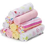 10 Pack washcloth, Pink Lines