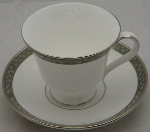 - Waterford Laurel Footed Cup & Saucer Set