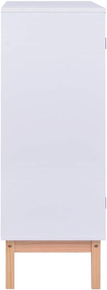 vidaXL Buffet Armoire Lat/érale Meuble de Rangement Armoire de Rangement avec 2 Portes Maison Int/érieur Stable Blanc 80x35x100 cm MDF
