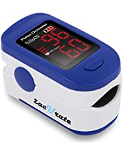 Zacurate 500BL Fingertip Pulse Oximeter Blood Oxygen Saturation Monitor with Batteries and Lanyard Included