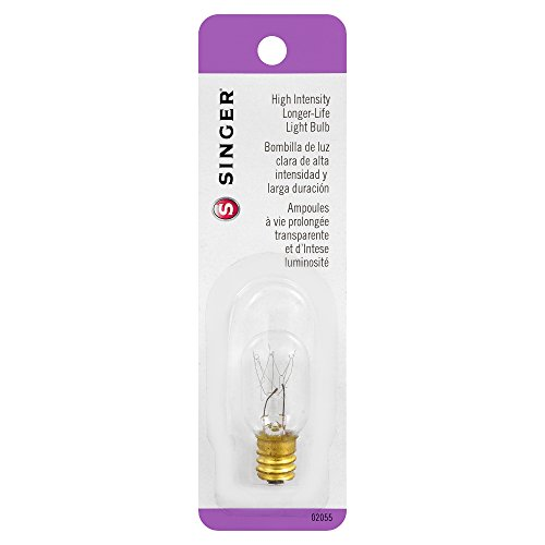 SINGER 15-watt Clear High Intensityer Life Light Bulb, 120-volt