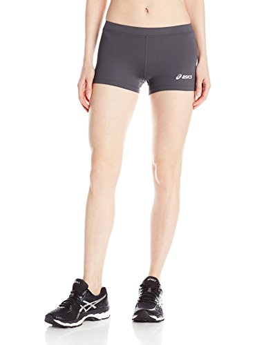 ASICS Women's Low Cut Volleyball Shorts, Steel Grey, Small