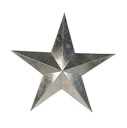 ACCENTHOME Large Metal Country Tin Galvanized Barn Star Primitive Star Wall Décor 24""