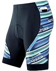 JVL Men's Cycling Shorts Motorcycle Bike Riding Tights 3D Padded Quick-Dry Half Pants