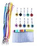 Rocclo Color card lanyard Retractable Badge Holder 10 Color Set