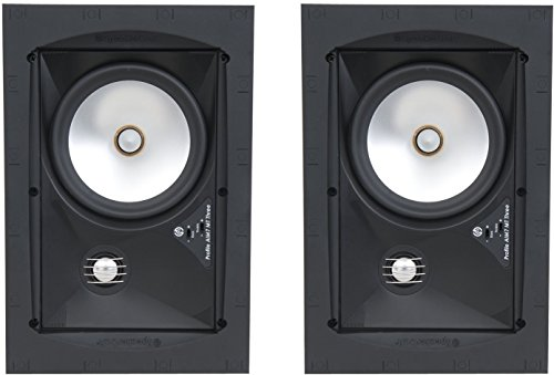 "SpeakerCraft Profile AIM7 MT Three 7"" In-Ceiling Speakers (Pair) Black ASM57703"