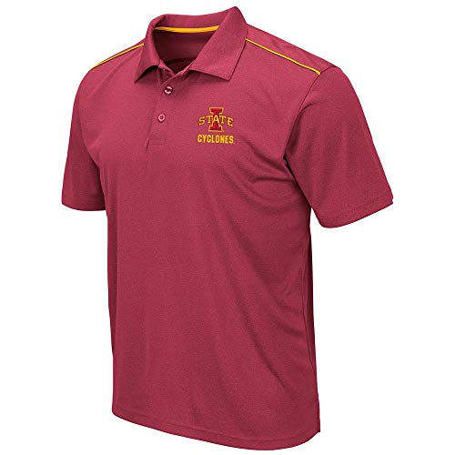 (Mens Iowa State Cyclones Eagle Short Sleeve Polo Shirt - L)