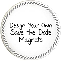 Custom Save the Date Magnets for Weddings or Parties (Set of 50, Slanted Dash)