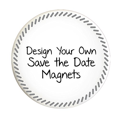 Custom Save the Date Magnets for Weddings or Parties (Set of 100, Slanted Dash) -
