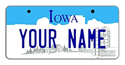 """BleuReign(TM Personalized Custom Name State Bicycle Bike Moped Golf Cart 3""""x6"""" License Plate Tag from BleuReign"""