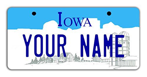 BleuReign(TM) Personalized Custom Name Iowa State Bicycle Bike Moped Golf Cart 3