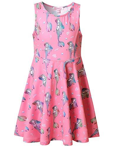 Mermaid Dresses for Big Girls 12 13 Sleeveless Swing Summer Sun Hawaiian Dresses]()