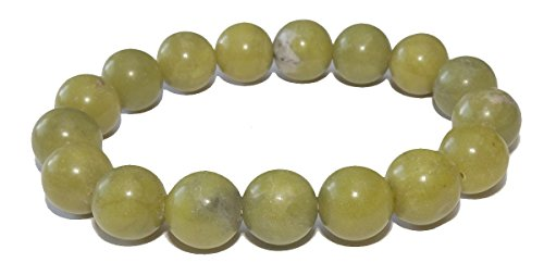 10mm New Jade Serpentine Bracelet 01 Love Heart Chakras Abundant Stone (Gift Box) (6.0) - Jade Bead Love Heart Bracelet