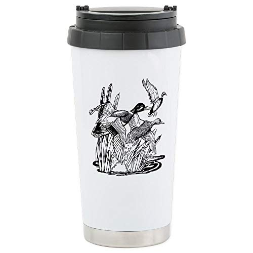 CafePress Ducks Unlimited Stainless Steel Travel Mug Stainless Steel Travel Mug, Insulated 16 oz. Coffee Tumbler Ducks Stainless Steel Travel Mug