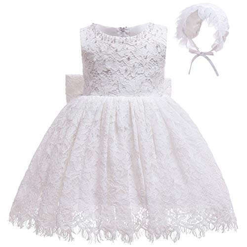 Coozy Baby Girls Dress Infant Princess Christening Baptism Party Birthday Formal Dress (Ivory (Style 4), 12M/12-15months)