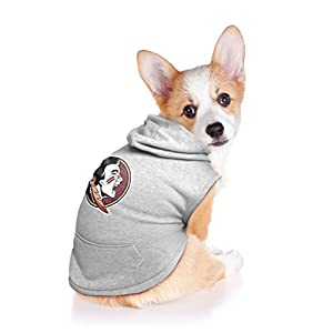 Littlearth NCAA Florida State Seminoles Pet Hooded Crewneck, Small