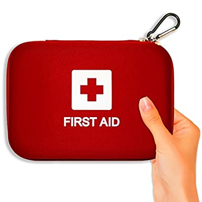 First Aid Kit, 106-Piece Emergency Medical Hard Shell Kits From Verco Auto, Packed with Essential Survival Items, Travel Case Fits in Car Glovebox or Trunk, FREE CPR eBook!