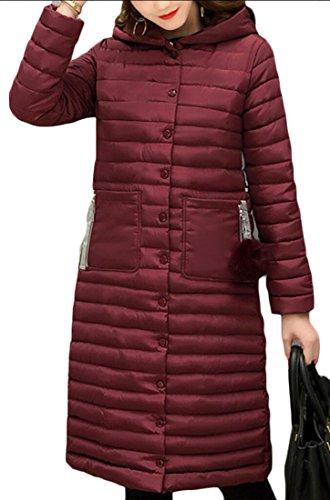 Winter Ultra Hooded amp;W M Light Long 1 Down amp;S Coat Women's qTpxPA