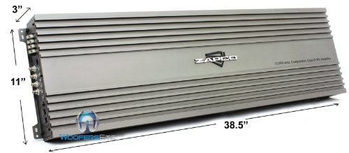ZX-10KD - Zapco Monoblock 10440W RMS Class D Low Range Bass Amplifier