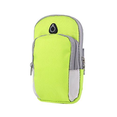 Damero Sport Running Arm Band Tasche Green + Blue