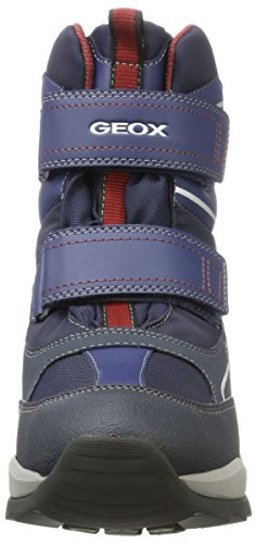 Geox Unisex Adults' J Orizont Boy ABX E Snow Boots Blue (Navy/Bordeaux C4335) OVdNSHN0M