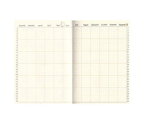 brosuper Cute Conejo Molang Diary Planificador Semanal ...