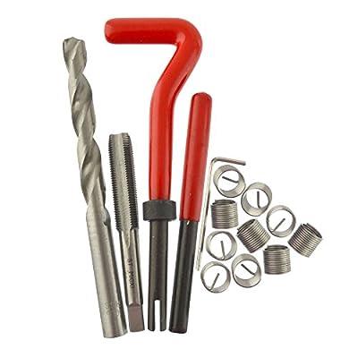 AB Tools M10 x 1.0mm Thread Repair kit/helicoil 9pc Set Damaged Thread AN043: Automotive