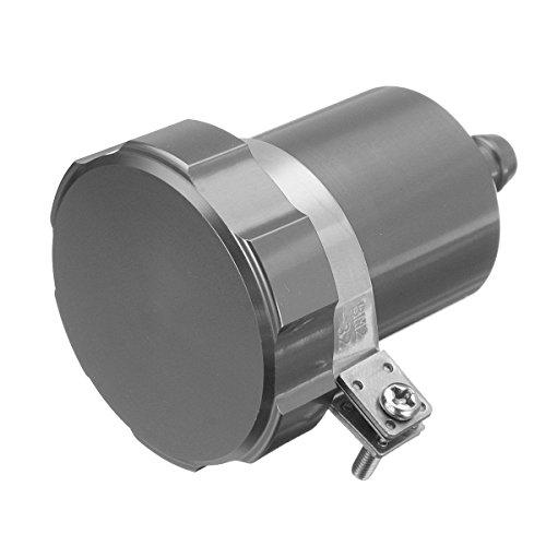 JenNiFer 15ml Motorcycle Rear Brake Fluid Reservoir Tank Oil Cup Clutch Master Cylinder CNC - Grey: