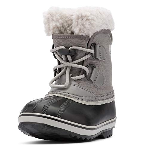 Lace Pac Boot - Sorel - Youth Yoot Pac Nylon Winter Snow Boot for Kids, Quarry/Dove, 6 M US