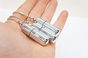Survival Waterproof Cigarette Flint Lighter Silver - Mini Peanut Capsule Outdoor Oil Lighter - Fire Starter Key Chain Lighter