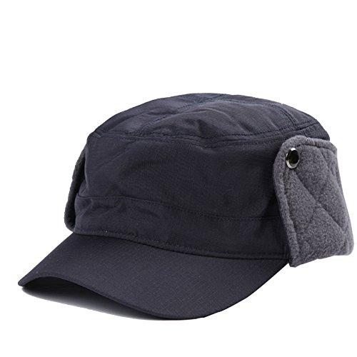 cálido y de Sombreros de 3 Lana Sombrero Plana Sombrero Viejo Hombres Maozi Invierno Orejeras Viejo Onda Invierno 2 Tapa Sw6q8g