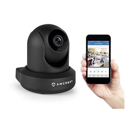 Amcrest UltraHD 2K (3MP/2304TVL) WiFi Video Security IP Camera with Pan/Tilt, Dual Band 5ghz/2.4ghz, Two-Way Audio, 3… 41HbtPIwQwL. SS555