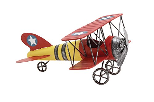 Deco 79 Metal Airplane, 12 by 6-Inch -  Dec Mode Collection, 92623