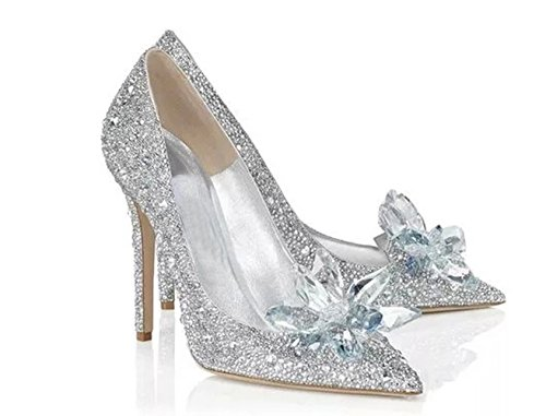 Cinderella Movie 2015 The Glass Slipper Princess Crystal Bridal Shoes Adult Size