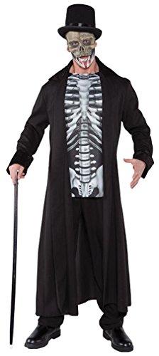 Underwraps Men's Skull Master, Black/Grey/White, One Size